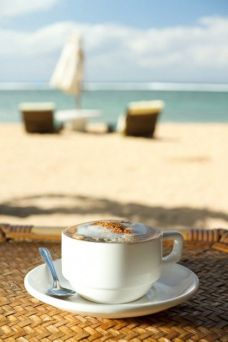 coffee on beach