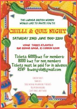 chilli and quiz night
